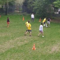Voetbalmatch tegen Mechelse Hattrick